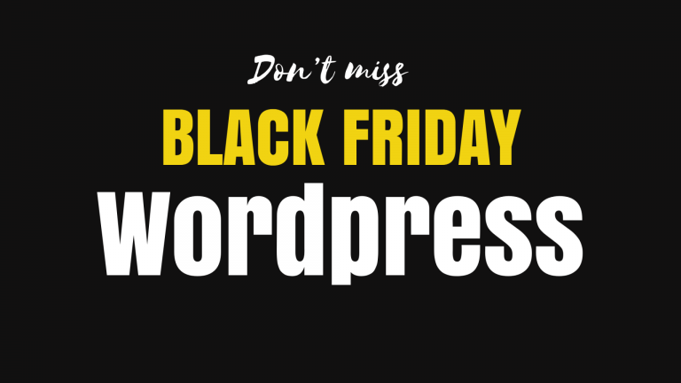black friday deals wordpress